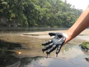 oily hand